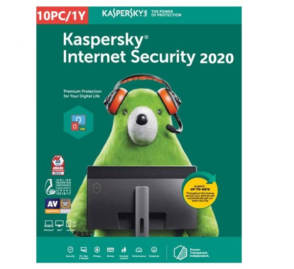 Kaspersky Internet security 2020 - 10 Devices MD 1 Year EU