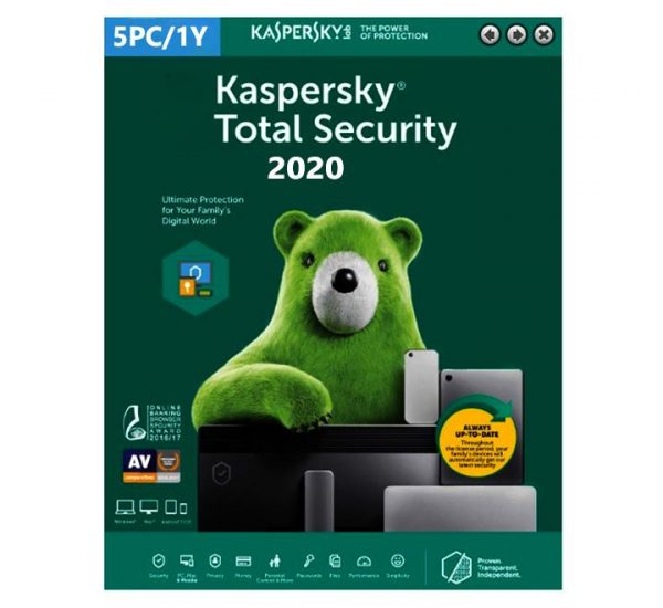 Kaspersky Total Security 2020 - 5 Devices MD 1 Year EU